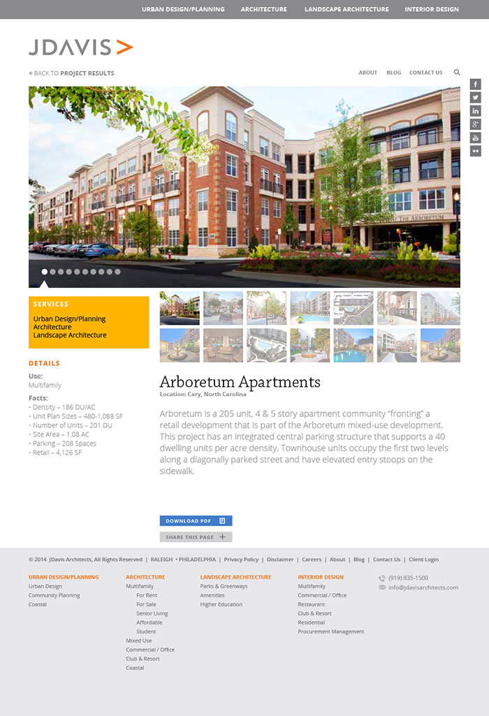 JDavis Architects Details Page