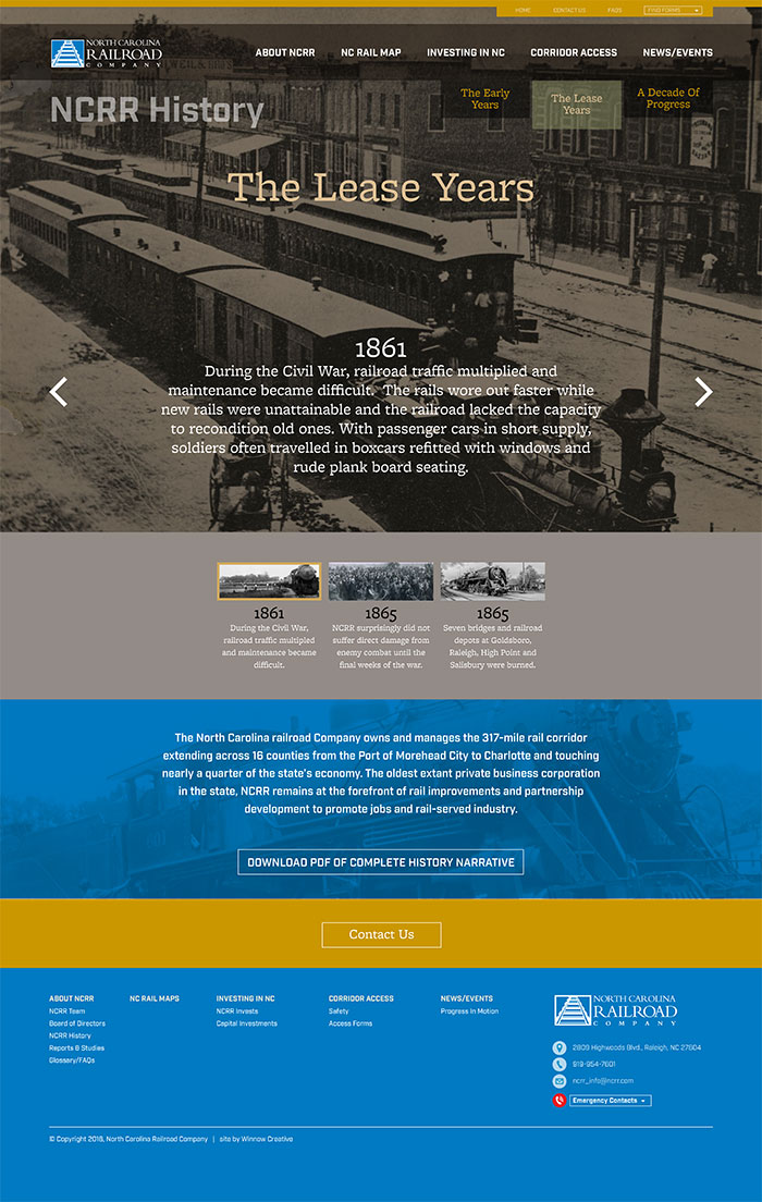 North Carolina Railroad History Page